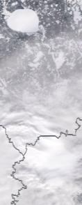 Спутниковый снимок  Рыбинского водохранилища и Белого озера 2021-02-12