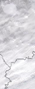 Спутниковый снимок  Рыбинского водохранилища и Белого озера 2021-02-13