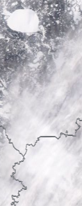 Спутниковый снимок  Рыбинского водохранилища и Белого озера 2021-02-14