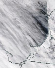 Спутниковый снимок  Куршский и Калининградский залив 2021-02-17