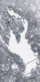 Спутниковый снимок Онежского озера 2021-02-17