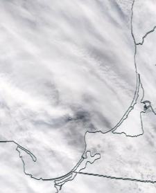 Спутниковый снимок  Куршский и Калининградский залив 2021-02-19