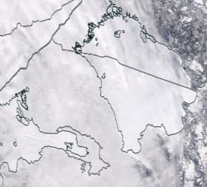 Спутниковый снимок Ладога, Финский залив 2021-02-19