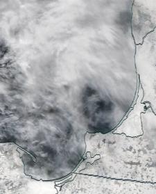 Спутниковый снимок  Куршский и Калининградский залив 2021-02-21