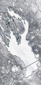 Спутниковый снимок Онежского озера 2021-02-21