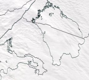 Спутниковый снимок Ладога, Финский залив 2021-02-23