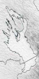 Спутниковый снимок Онежского озера 2021-02-23