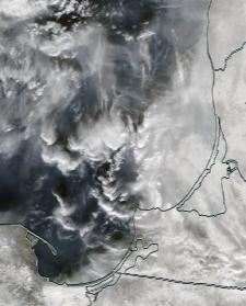 Спутниковый снимок  Куршский и Калининградский залив 2021-02-24