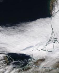 Спутниковый снимок  Куршский и Калининградский залив 2021-02-26