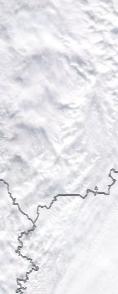 Спутниковый снимок  Рыбинского водохранилища и Белого озера 2021-02-26
