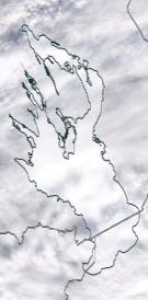 Спутниковый снимок Онежского озера 2021-02-26
