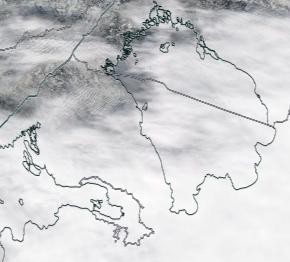 Спутниковый снимок Ладога, Финский залив 2021-03-30