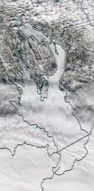 Спутниковый снимок Онежского озера 2021-03-31