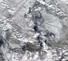Спутниковый снимок Ладога, Финский залив 2021-04-02