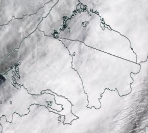 Спутниковый снимок Ладога, Финский залив 2021-04-04