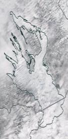 Спутниковый снимок Онежского озера 2021-04-04