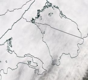 Спутниковый снимок Ладога, Финский залив 2021-04-05