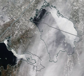 Спутниковый снимок Ладога, Финский залив 2021-04-07
