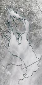Спутниковый снимок Онежского озера 2021-04-07