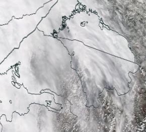 Спутниковый снимок Ладога, Финский залив 2021-04-09