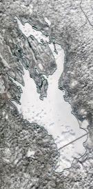 Спутниковый снимок Онежского озера 2021-04-09