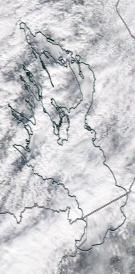 Спутниковый снимок Онежского озера 2021-04-10