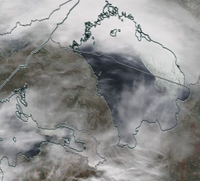 Спутниковый снимок Ладога, Финский залив 2021-04-12