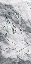 Спутниковый снимок Онежского озера 2021-04-12