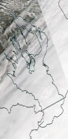 Спутниковый снимок Онежского озера 2021-04-14