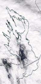 Спутниковый снимок Онежского озера
