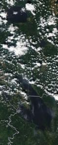 Спутниковый снимок  Рыбинского водохранилища и Белого озера 2021-07-15