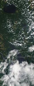 Спутниковый снимок  Рыбинского водохранилища и Белого озера 2021-07-17