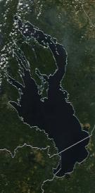 Спутниковый снимок Онежского озера 2021-07-18