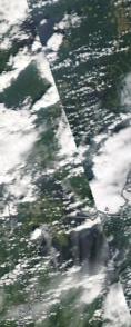 Спутниковый снимок  Рыбинского водохранилища и Белого озера 2021-07-19