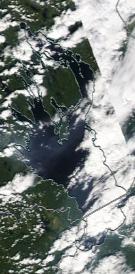 Спутниковый снимок Онежского озера 2021-07-19
