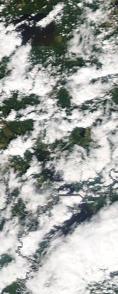 Спутниковый снимок  Рыбинского водохранилища и Белого озера 2021-07-21