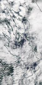 Спутниковый снимок Онежского озера 2021-07-22