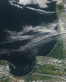 Спутниковый снимок  Куршский и Калининградский залив 2021-07-23