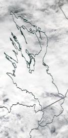 Спутниковый снимок Онежского озера 2021-07-29