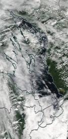 Спутниковый снимок Онежского озера 2021-07-30