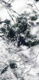 Спутниковый снимок Онежского озера 2021-07-31