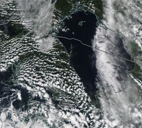 Спутниковый снимок Ладога, Финский залив 2021-09-06
