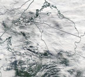 Спутниковый снимок Ладога, Финский залив 2021-09-11