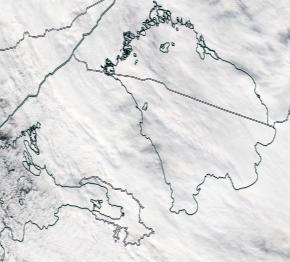 Спутниковый снимок Ладога, Финский залив 2021-09-14