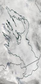 Спутниковый снимок Онежского озера 2021-10-02