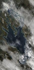 Спутниковый снимок Онежского озера 2021-10-03