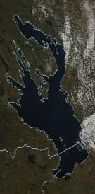 Спутниковый снимок Онежского озера 2021-10-04