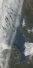 Спутниковый снимок Онежского озера 2021-10-05