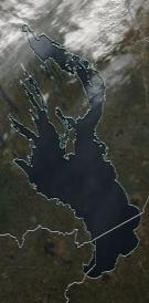 Спутниковый снимок Онежского озера 2021-10-06