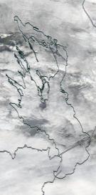 Спутниковый снимок Онежского озера 2021-10-08